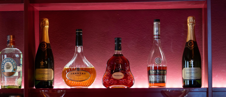 Bar spirits header